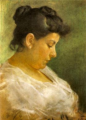 Retrato de la madre del artista, por Pablo Picasso (15 años de edad). 1896