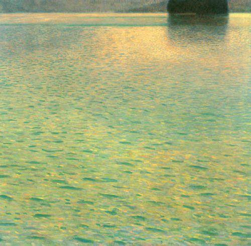 Gustav Klimt, Island in the Attersea