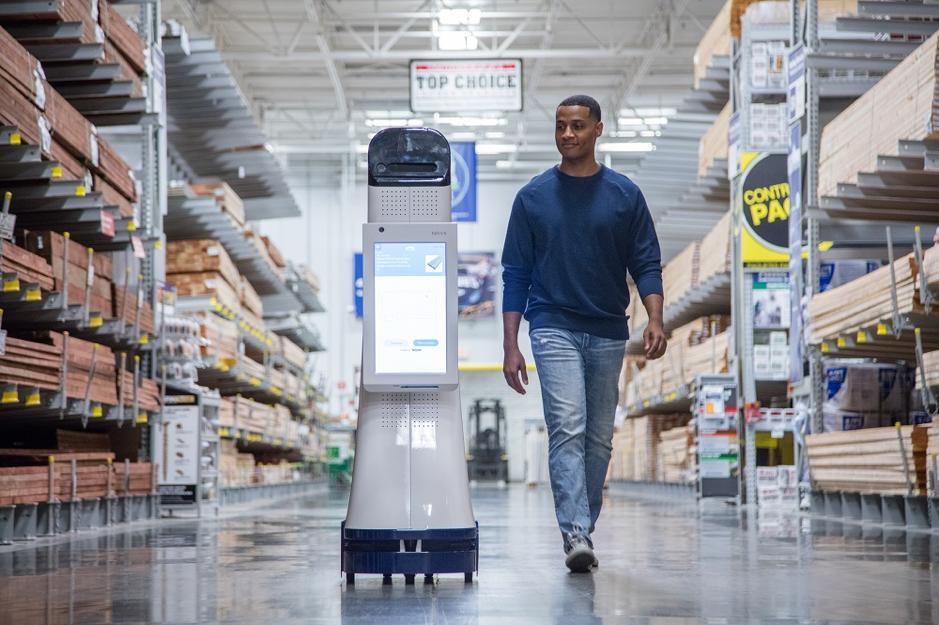 asistente robotico de compras de lowes